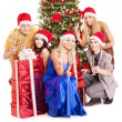Group young in santa hat. — Stok fotoğraf #7843191