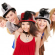 Group young on party. — Stock Photo #7843203