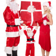 Santa claus family with child. — Stock Photo #7846558
