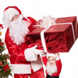 Santa claus family with child. — Stock Photo #7846561