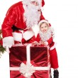 Royalty-Free Stock Photo: Santa claus family with child.