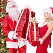 Santa claus and christmas girl. — Stock Photo #7846615