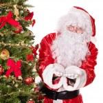 Santa claus by christmas tree. — Stock Photo
