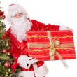 Santa claus by christmas tree. — Stock Photo #7846668