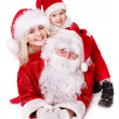 Santa claus family with child. — Stock Photo #7846686
