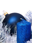 Christmas still life with tree, ball. — Stock Photo