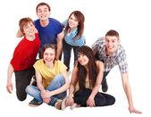 Gruppe von glücklichen jungen — Stockfoto