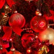 Christmas  background with red tree. — Foto de Stock