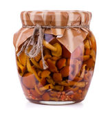 Pickled mushrooms — Stock Photo