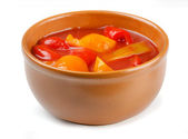 Lecho in bowl — Stock Photo