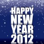 New year 2012 spark — Stock Vector