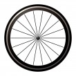 Bike road wheel — Stock Vector