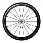 Bike road wheel — Stock Vector #7852862