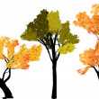 Abstract silhouette of trees on a transparent background — Imagen vectorial