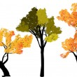 Abstract silhouette of trees on a transparent background — Image vectorielle