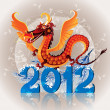 Dragon_ symbol 2012 - Stock Vector
