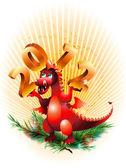 Dragon_ symbol 2012_ — Stock Vector