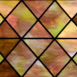 Colored stained glass panel — Stock Photo