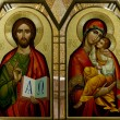 Jesus the Teacher with Mary Icon — Stock Photo #7347216