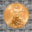 Single Liberty gold coin — Stock Photo