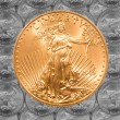 Stock Photo: Single Liberty gold coin