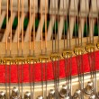Piano strings in macro — Stock Photo