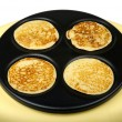 Stock Photo: Pancakes on Griddle
