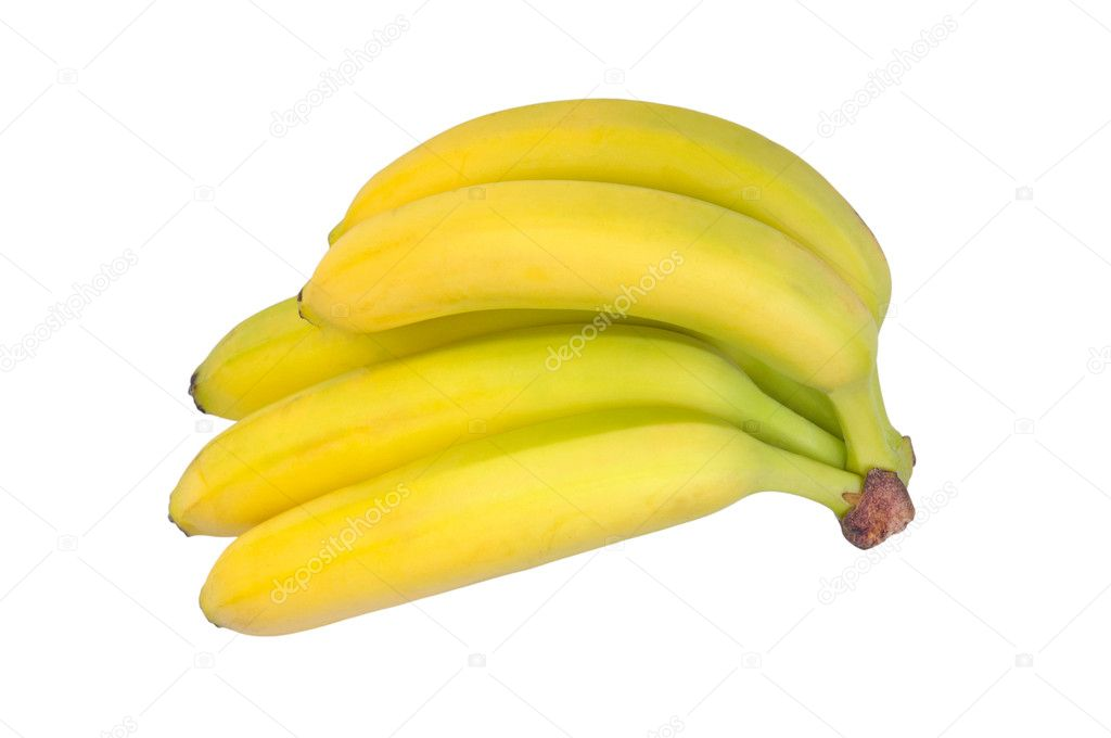 Bunch of bananas isolated on white background  Stock Photo #7113210