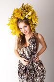 Lady autumn. — Stock Photo