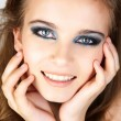 Beautiful young woman in beauty. - Stock Photo