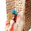 The doll in a gift box. — Stock Photo #7467225