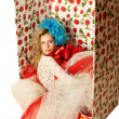 The doll in a gift box. — Stockfoto