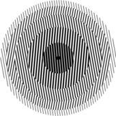 Optical Illusion circle — Stock Vector