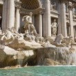 Trevi fountain tourism - Stock Photo