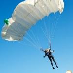 Parachute jumper — Stock Photo