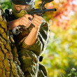 Paintball player — Stock Photo #6905990