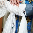 Stock Photo: Blessing at church wedding ceremony