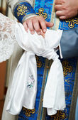 Blessing at church wedding ceremony — Stock Photo