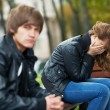 Relationship difficulties of young couple — Stock Photo