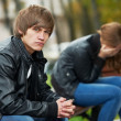 Stock Photo: Relationship difficulties of young couple