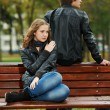 Young couple in stress relationship — Stock Photo #7106717