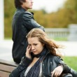 Relationship difficulties of young couple — Stock Photo #7106785