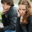 Relationship difficulties of young couple — Stock Photo #7106885