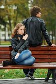 Young couple in stress relationship — Stock Photo