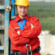 Builder worker at construction site — Stock Photo #7135391