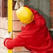 Construction mason worker bricklayer — Stock Photo #7135422