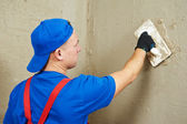 Plasterer at work — Stock Photo