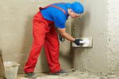 Plasterer at work — Stock Photo