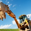 Excavator Loader with backhoe works — Stock Photo #7141380
