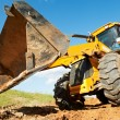 Excavator Loader with backhoe works — Stock Photo #7141390